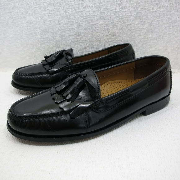 Cole Haan Other - Cole Haan Kiltie Black Leather Loafers 9.5 D